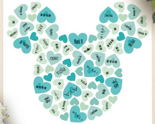 ディズニーウェディングツリーミッキー(ブルー) ※30名~50名用2
