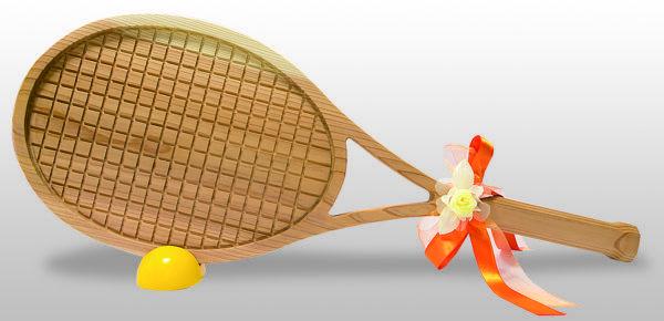 ファーストバイト用ビッグスプーン 趣味シリーズ テニスラケット型スプーン