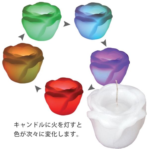 ラビアンローズL レインボウ【LED内蔵】新郎新婦様用 「ホワイト」