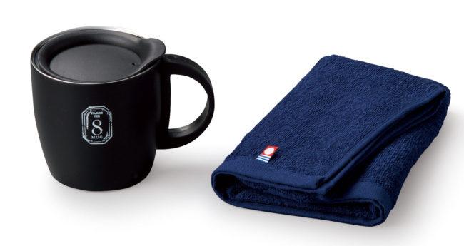 AMIi HOME タオル(NV)&マグカップ(BK)