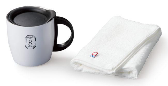 AMIi HOME タオル(WH)&マグカップ(WH)