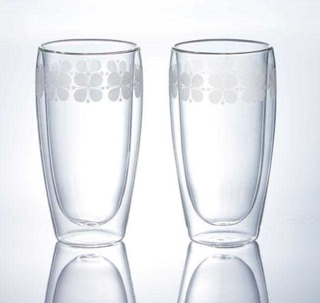 flower 二重構造ペアグラス