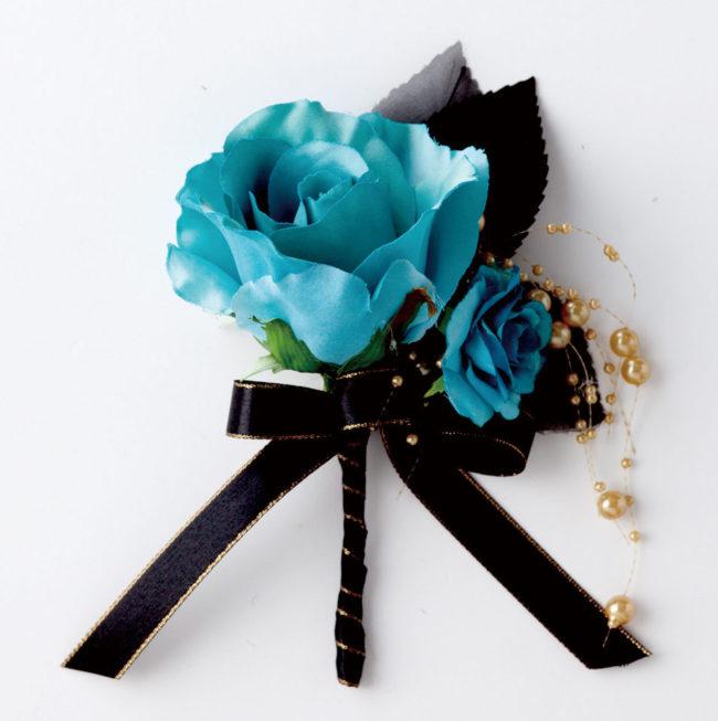 ブーケ&ブードニアORG1127_2 黒×ブルー