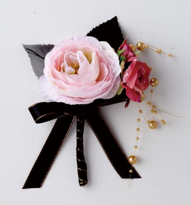 ブーケ&ブードニアORG1127_2 黒×ピンク