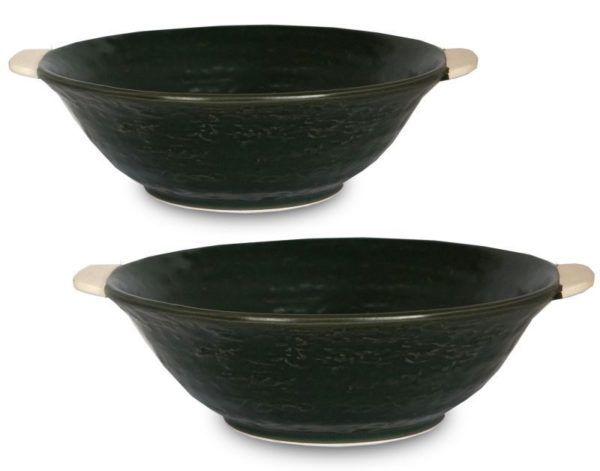 ラーメン鉢セット モスグリーン