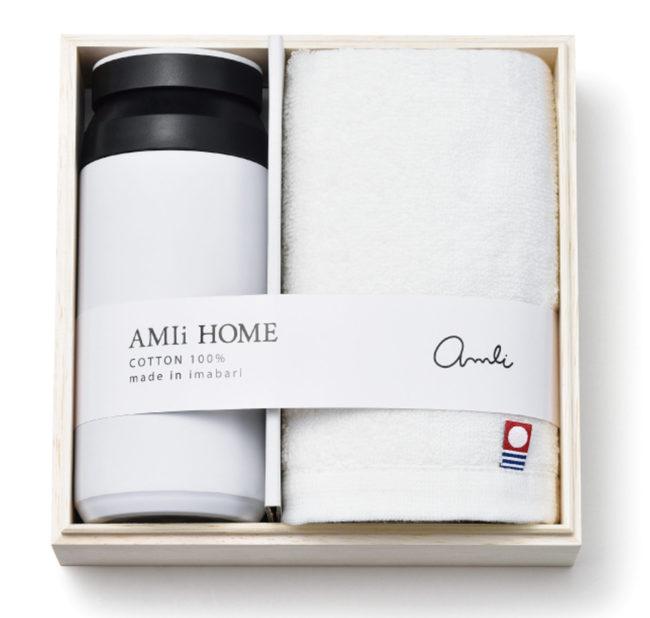 AMIi HOME ボトル(WH)&フェイスタオル