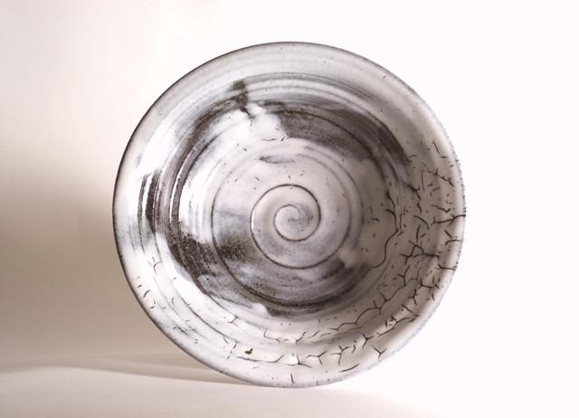 御室焼仁秀 創雲(そううん) 手挽き「フリー鉢」(21cm)