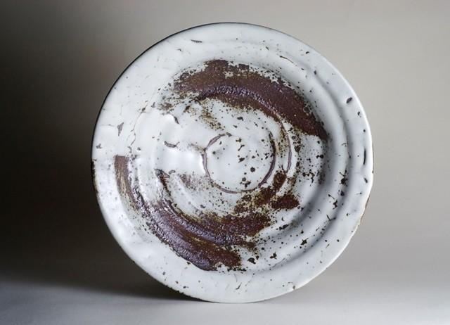 御室焼仁秀 瑞 手挽き「フリー鉢」(21cm)