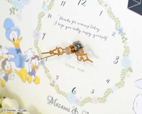 ウェルカムボード(フラワー)マイダーリン(時計付き)2