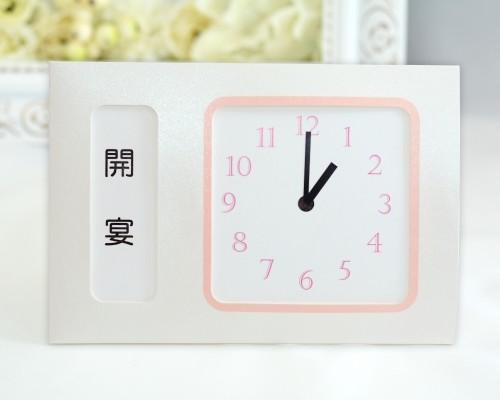 ウェルカムボード(フラワー)プリム(時計付き)5