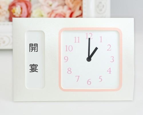 ウェルカムボード(フラワー)ホワイトベール(時計付き)5