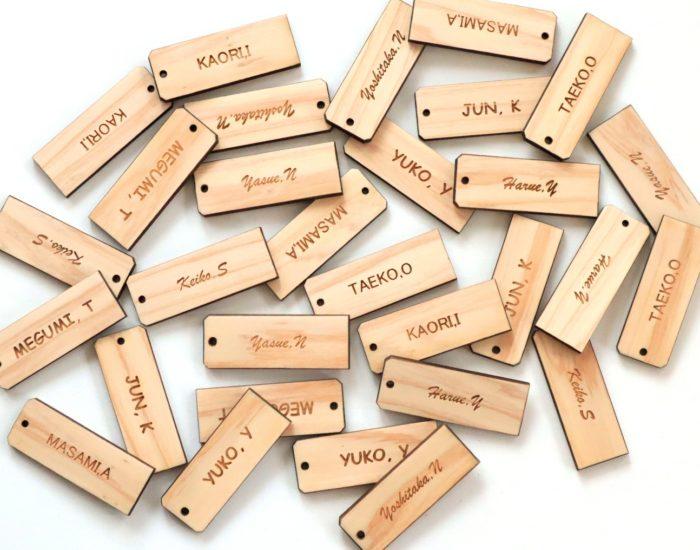 木製ネームチャーム(席札)